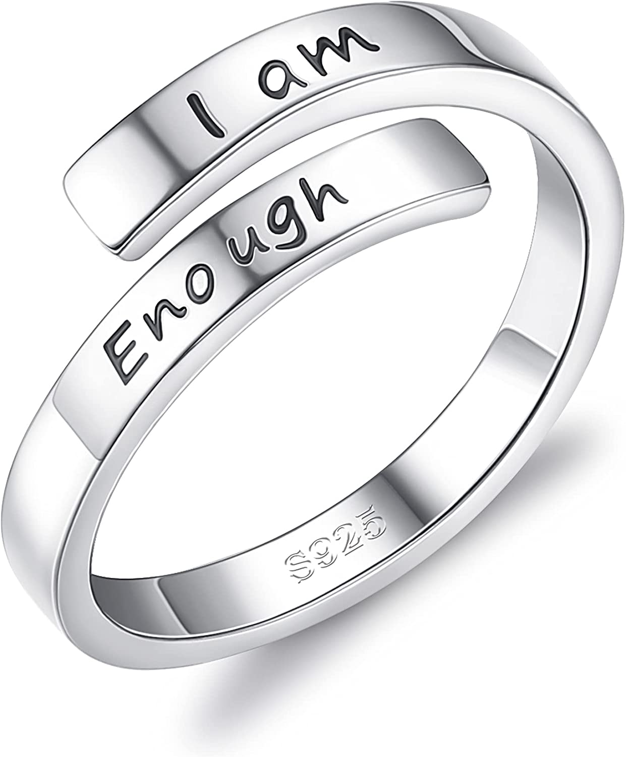 Milacolato I Am Enough Rings 925 Sterling White 18K Ranking Ranking TOP9 TOP8 Gold Silver