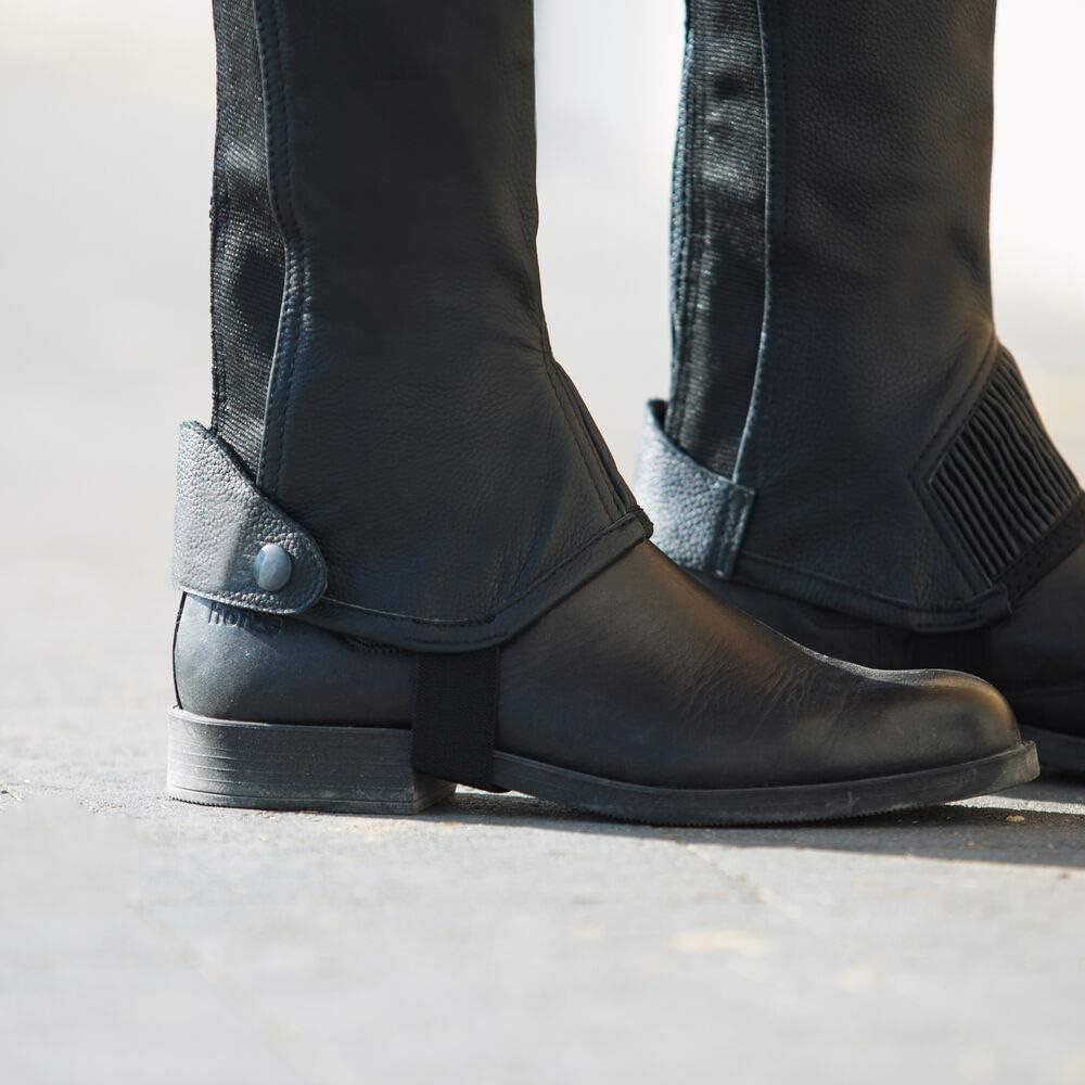 HORZE Kids Leather Half Chaps - Elastic