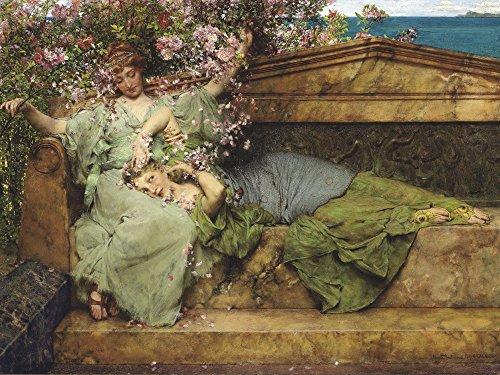 Artland Alte Meister Premium Wandbild Sir Lawrence Alma-Tadema Bilder Poster 60 x 80 cm Im Rosengarten Kunstdruck Wandposter Klassizismus R1KK