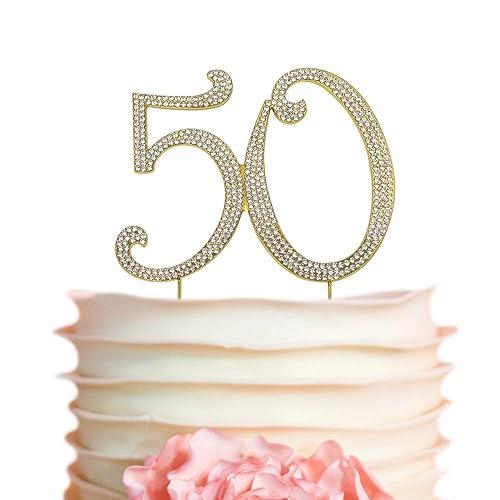 50 GOLD Cake Topper