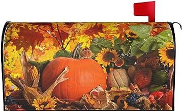 Herfst Herfst Oogst Mailbox Cover Bomen Natuur Bladeren Thanksgiving Pompoen Brief Doos Cover Magnetische Mail Wraps Post ...