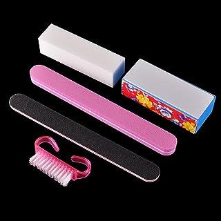AKOAK 5 Pcs/set Nail Art Buffer File Block Professional Manicure Tools Kit Rectangular Nail Files Brush Nail Art Tools