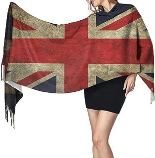 Flags United Kingdom Artwork British Flag Of England Cashmere Scarf Lightweight Long Shawl Soft Warm Shawl Scarves Elegant Women Blanket Scarf For Fall Winter Indoor Outdoor