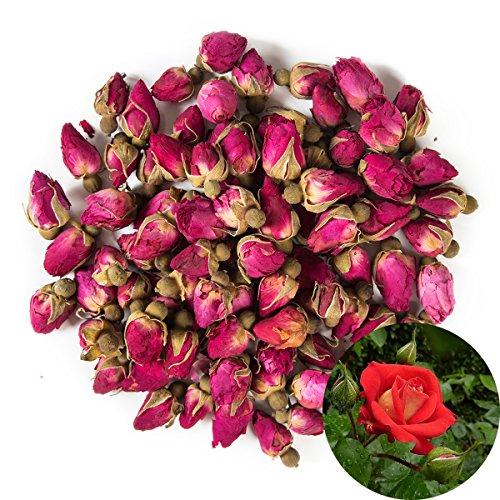 TooGet Duftende Natürliche Rote Rosenknospen Rosenblätter Getrocknete Blumen Großhandel - 115g