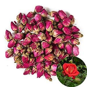 TooGet Brotes Naturales de Rosas Rojas Fragantes Pétalos de Rosa Flores Secas Al por Mayor - 115g