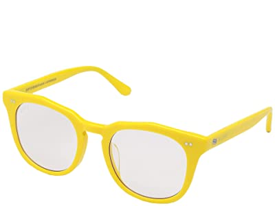 DIFF Eyewear Bird Yellow + Blue Light (Yellow/Blue Light) Fashion Sunglasses