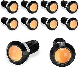 YITAMOTOR 10PCS Eagle Eye LED Lights Amber Daytime Running DRL Light 18mm Ultra Thin Waterproof Aluminum Shell Car Motorcycle Fog Tail Backup Reverse Light