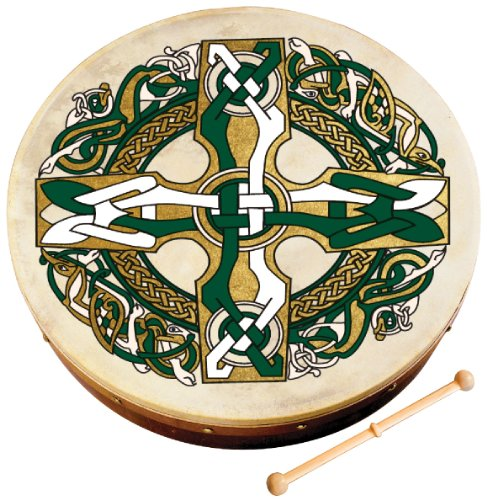 Waltons Bodhrán 8' (Celtic) - Handcrafted Irish Instrument - Crisp & Musical Tone - Hardwood Beater Included w/ Purchase