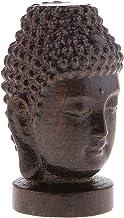 Prettyia 2.4 Inch Eaglewood Shakyamuni Head Statue Buddha Figurine Good Fortune Ornament