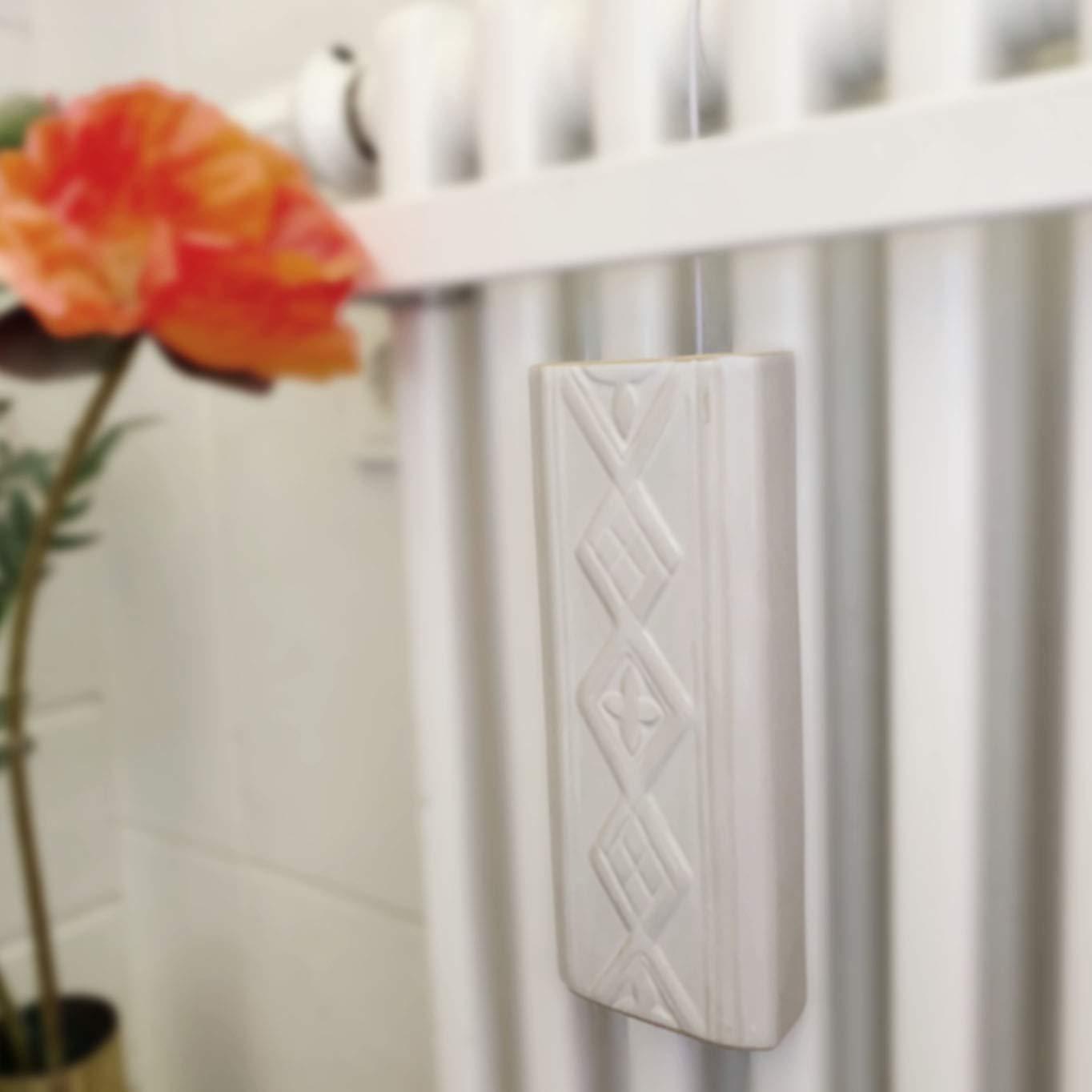 Humidificador de 4 piezas de cer/ámica RELIEF para radiadores acanalados para la fijaci/ón al radiador de calefacci/ón difusor de agua a1666