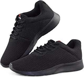 Mens Running Shoes Trail Non Slip Sneakers Cushioned Lightweight Breathable Sports Walking Shoes