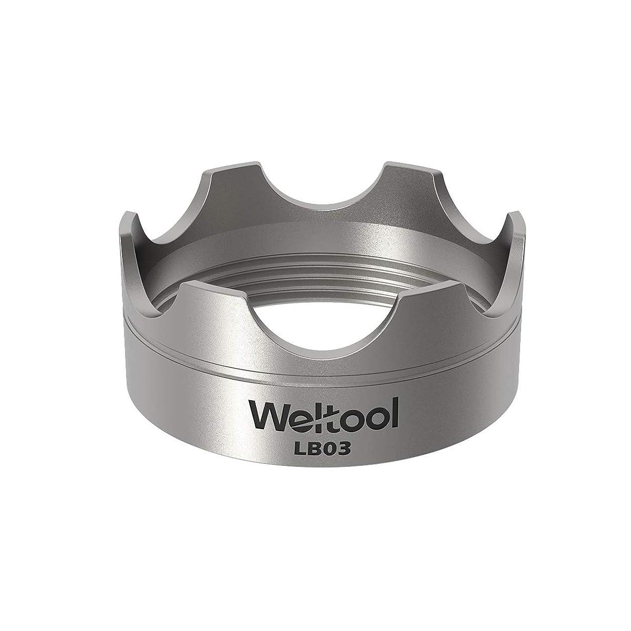 告白する抜け目のないそこWeltool ヘッド ベゼル 対応 Maglite 懐中電灯(Maglite 単一電池 懐中電灯用) - 304ステンレススチール - LB03モデル(Magliteガラスブレーカー用)