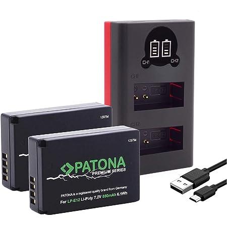 Patona Premium 2x Ersatz Für Akku Canon Lp E12 Mit Elektronik