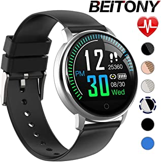beitony Smart Watch, Activity Tracker Watch with Heart Rate Monitor, IP68 Waterproof Pedometer with Sleep Monitor, Step Counter, Calories Counter for Android & iPhone
