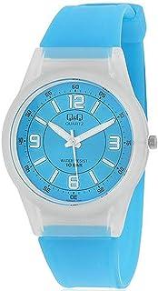 Q&Q For Unisex Blue Dial Plastic Band Watch - VQ50J011Y