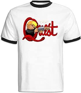 GOOOET Men's Jonny Quest Shooting Logo Cotton T-shirt