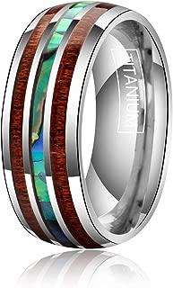 koa and titanium rings