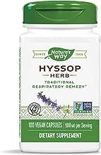 Nature's Way Premium Herbal Hyssop Herb, 900 mg per Serving, 100 Capsules