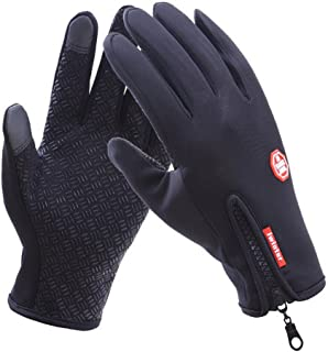 GZCRDZ Bicycle Motorcycle Waterproof Gloves Man's Gift Outdoor Sport Warm Windproof Thermal Touch Gloves Riding Running Bi...