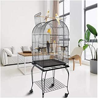 Bird Cage Medium Parrot Cage Flock Bird Cage Open Top Grey Parrot Breeding Cage Myna Cage Canary Finch Pet Bird Cage with ...