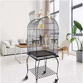 Hkwshop Jaula para pájaros Medio Jaula del Loro Flock Jaula de ...