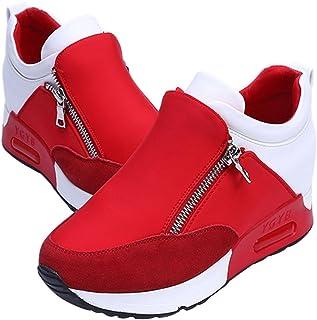 wealsex Donna Scarpe da Sportive Running Sneakers Casuale A Piedi Palestra Aumentato Entro 2,5 cm