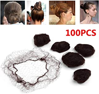 """100PCS 18"""" Nylon Hair Net Hair Nets Hairnets Elastic Edge - Stretch To Fit Lightweight and Latex Free One Size Fits All(18..."""