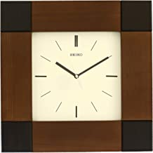 Seiko Wall Clock (39 cm x 39 cm x 5.5 cm, Brown)