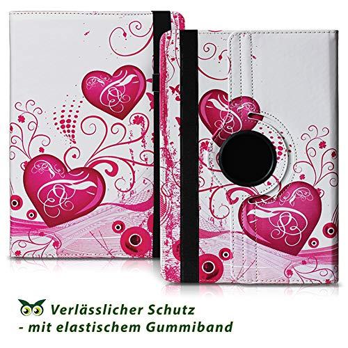 NAUC Tablet Hülle kompatibel für Lenovo Tab 2 A10-70 Tasche Schutztasche Cover Schutz Case 360° Drehbar Etui hochwertiges Kunst-Leder, Farben:Motiv 6