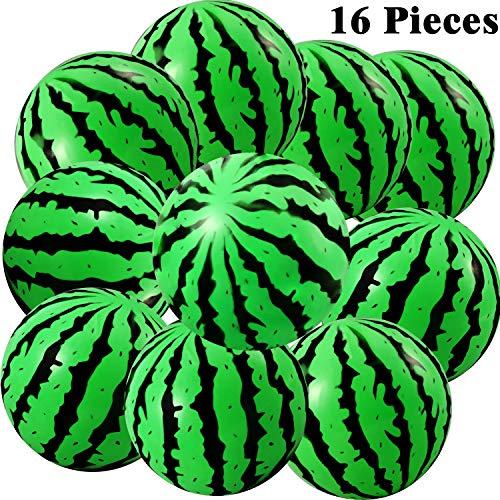Gejoy 16 Stück Wassermelone Aufblasbarer Ball Wasser Springender Ballball Pool Party Ball für Summer Strand Party Lieferungen,, 8 Zoll