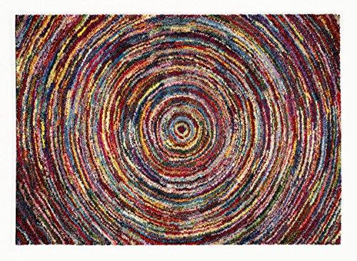 INTERSTELLAR TORNADO Designer Hochflor Langflor Teppich in multicolor, Größe: 120x170 cm