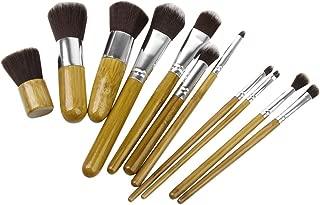 Generic 11 Pcs Portable Makeup Powder Brushes Set Blush Cosmetic Bamboo Bag