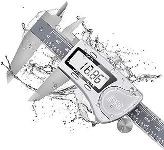 Dijite Digital Caliper, Digital Caliper 6 Inch /150mm, IP54 Waterproof Caliper Measuring Tool Stainless Steel, 0.0005
