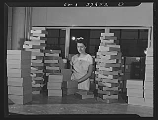 1943 Photo Parke, Davis and Company, manufacturing chemists, Detroit, Michigan. Cartons to be used in packing blood plasma Location: Detroit, Michigan, Wayne County