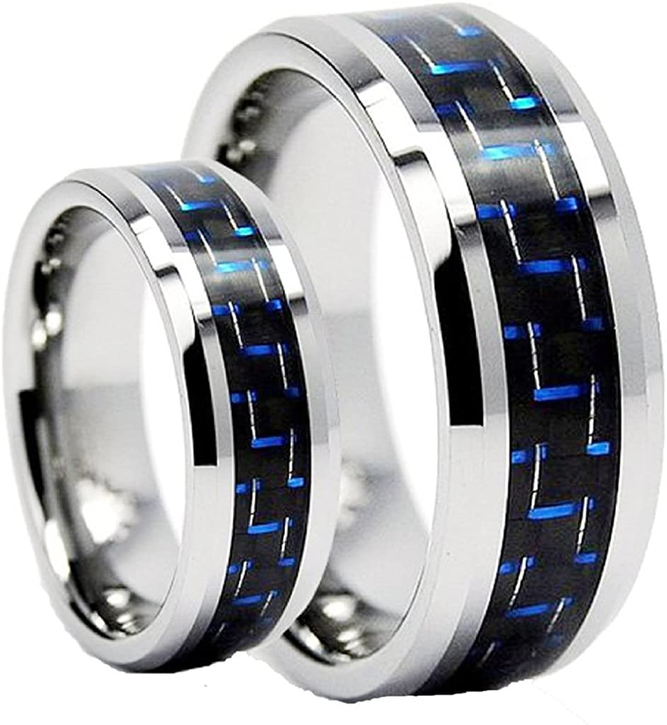 His Popular standard Hers Tungsten Carbide Factory outlet Engagement Set Wedding Band B Ring