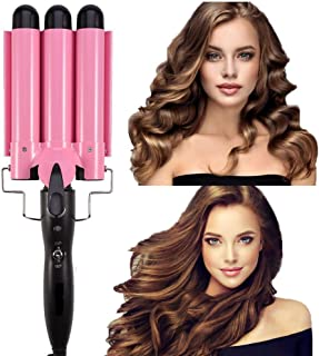 Ausale Curling Iron 3 Barrel Hair Waver Stylish Fast Heating Hair Curlers Temperature Adjustable Ceramic Beach Waver Hair ...