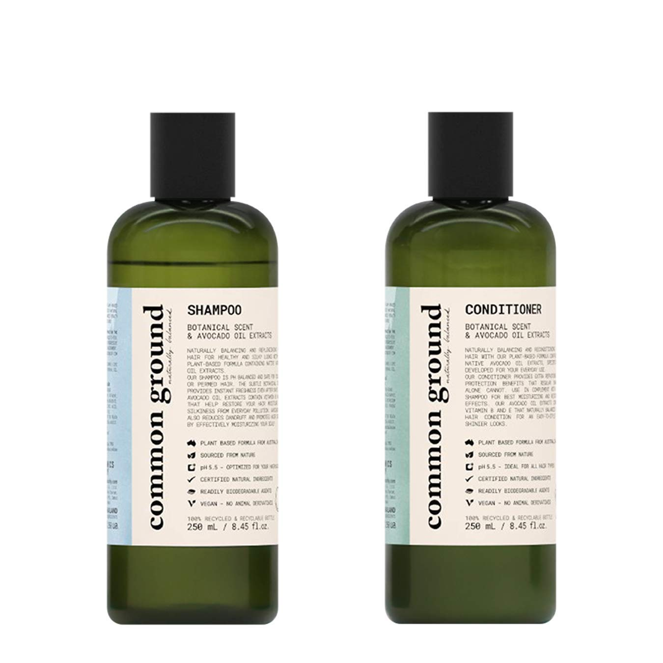 Common Ground Natural Shampoo Popular product and Paraben Conditioner C Super sale Set;