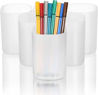 Marbrasse Desk Organizer - 6Pcs Pen Holder Cup Storage, Pen Organizer Stationery Caddy for Office, School, Home Supplies T...