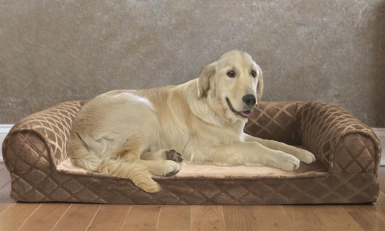 Orthopedic Mattress Pet Bed, Small Medium, Dark Brown