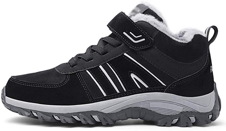 JBHURF Men's Outdoor Leather Hiking shoes Breathable Lightweight Sneaker for Walking Trekking