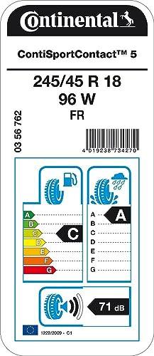 Continental Sportcontact 5 Fr 245 45r18 96w Sommerreifen Auto