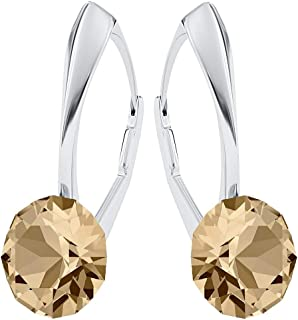 Beforya Paris - Wonder Brilliants - Silver 925 Earrings - Many Colours - Earrings for Woman - Earrings with Swarovski® crystals - Jewellery with Bag and Jewellery Box PIN/75