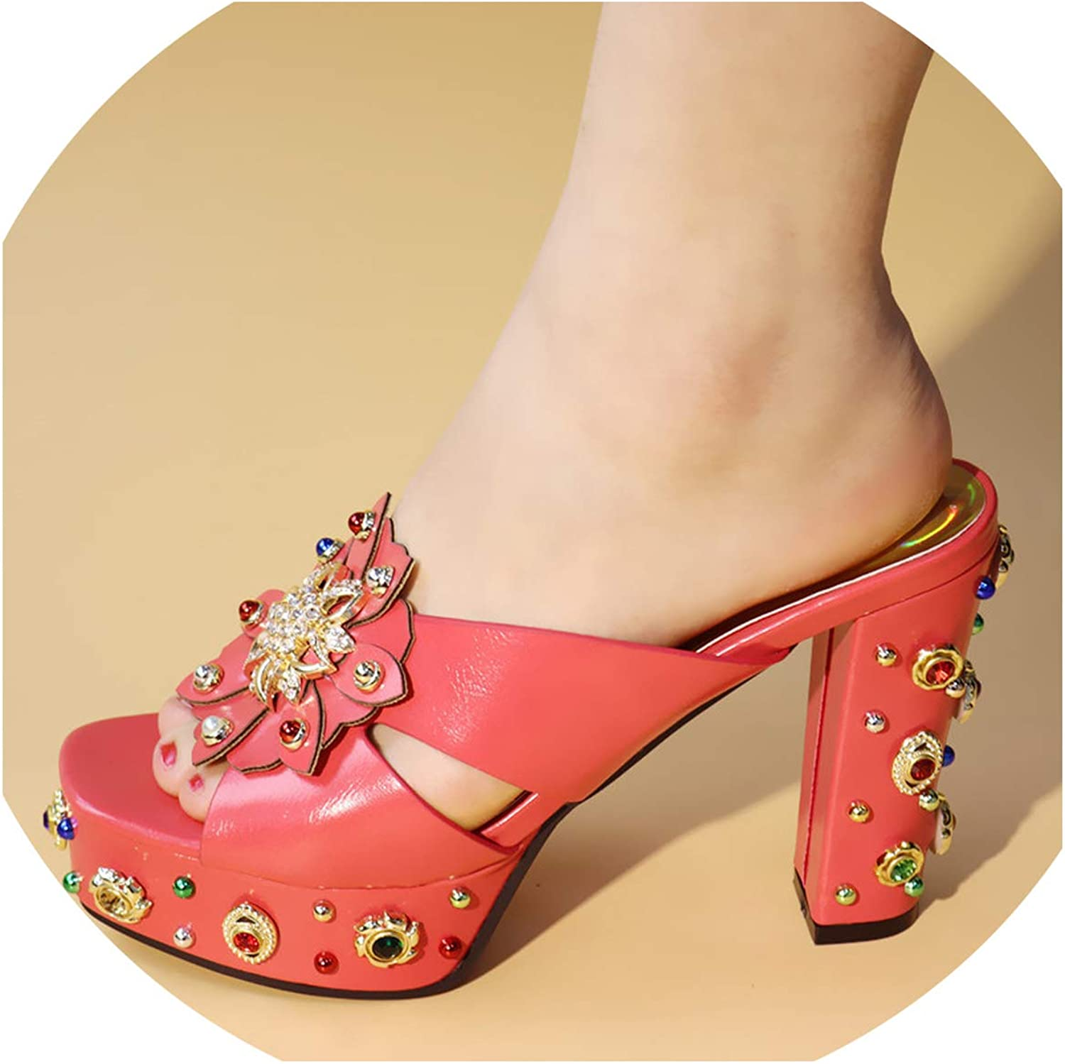 Sunny Doll Women shoes Decorated with Rhinestone  Women shoes for Party Women Summer Sexy High Heels Pumps