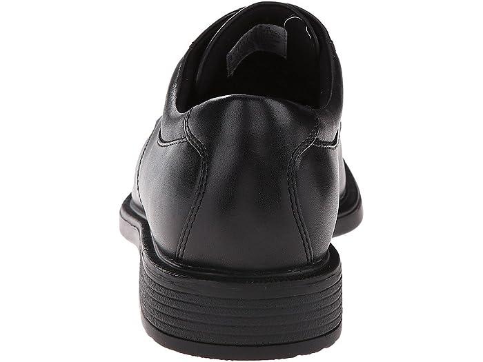 rockport black leather shoes
