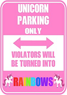 Unicorn Parking Only Violators Will Be Turned Into Rainbows: Funny Unicorn Personal Diary Journal Gift For Girls