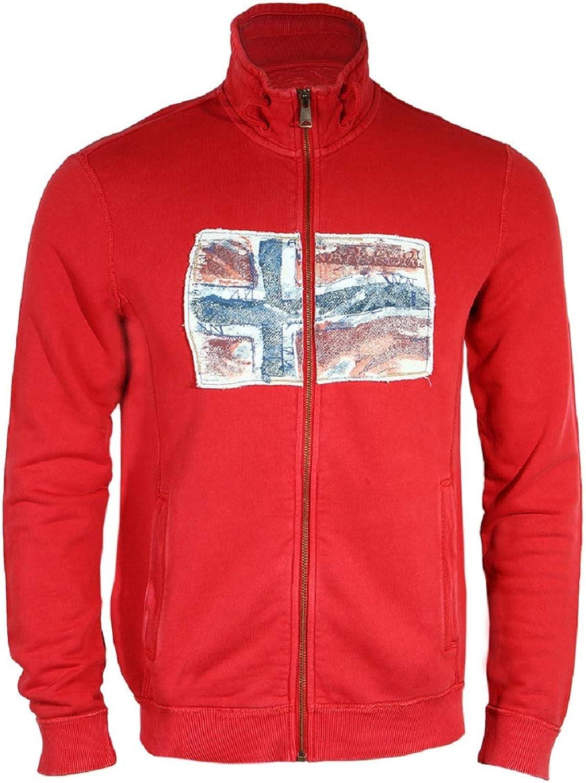 Napapijri Babos Stand Sweatshirt Man Sparkling Red Large
