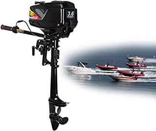 NOPTEG 3.6HP 2 Stroke Power Outboard Motor Fishing Boat Engine Water Cooling CDI System