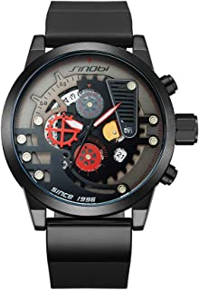 Men's Analog Quartz Watches with Rubber Strap 9787G