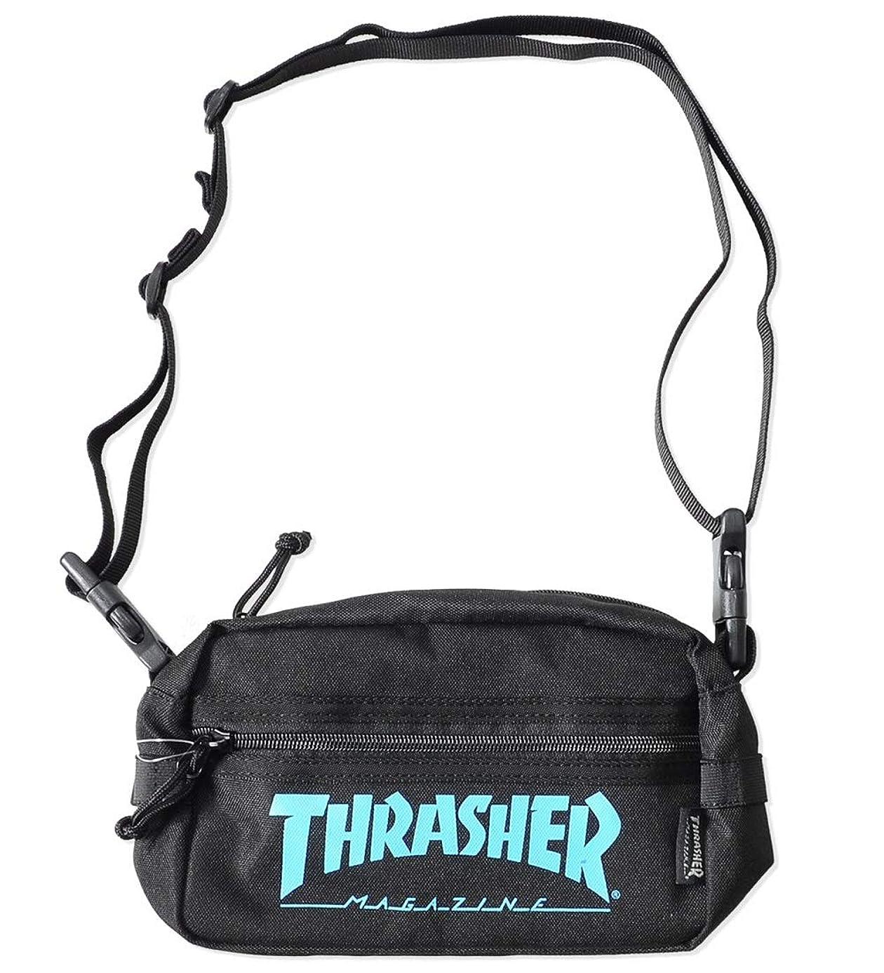 骨髄たとえ理想的THRASHER スラッシャー ショルダーバッグ サコッシュ カバン MAGロゴ (THRSG400) O/S BLACK/BLUE