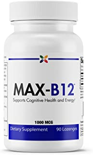 Stop Aging Now - MAX-B12 Vitamin B12 Lozenges 1000 mcg - Supports Cognitive Health and Energy - 90 Lozenges